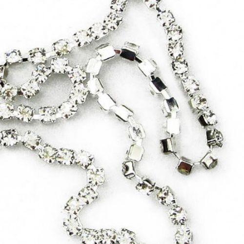 Panglică metalică de bijuterii cu cristale pentru confecționarea bijuteriilor SS10 2,8 mm x 1 m