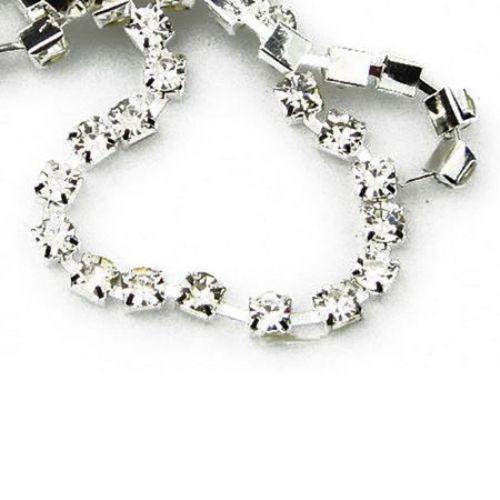 Rhinestone Chain, Glass Beads, Sewing, Jewelry Making, Grade A SS16  3.6 mm x 1 m