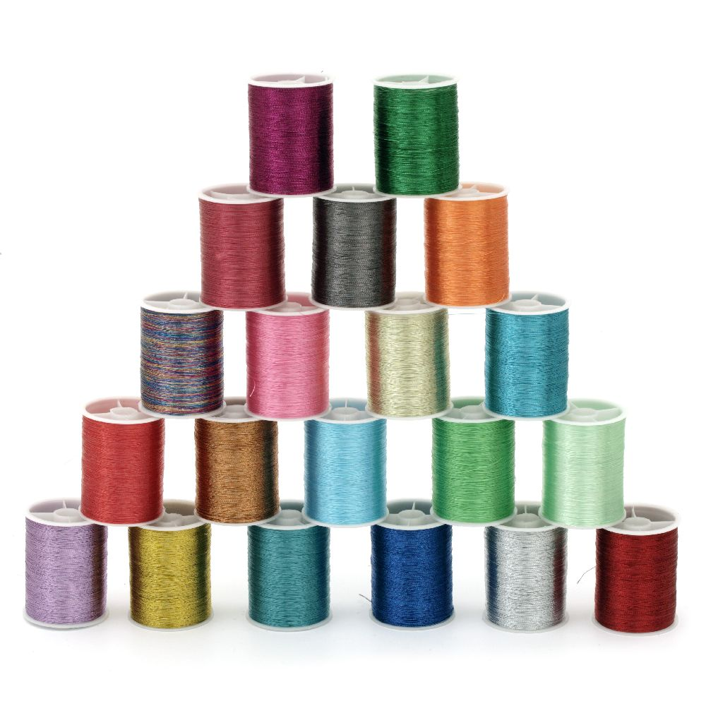 Braided Metallic Cord, Gift Wrap Craft String  0.1 mm assorted color ~ 55 meters