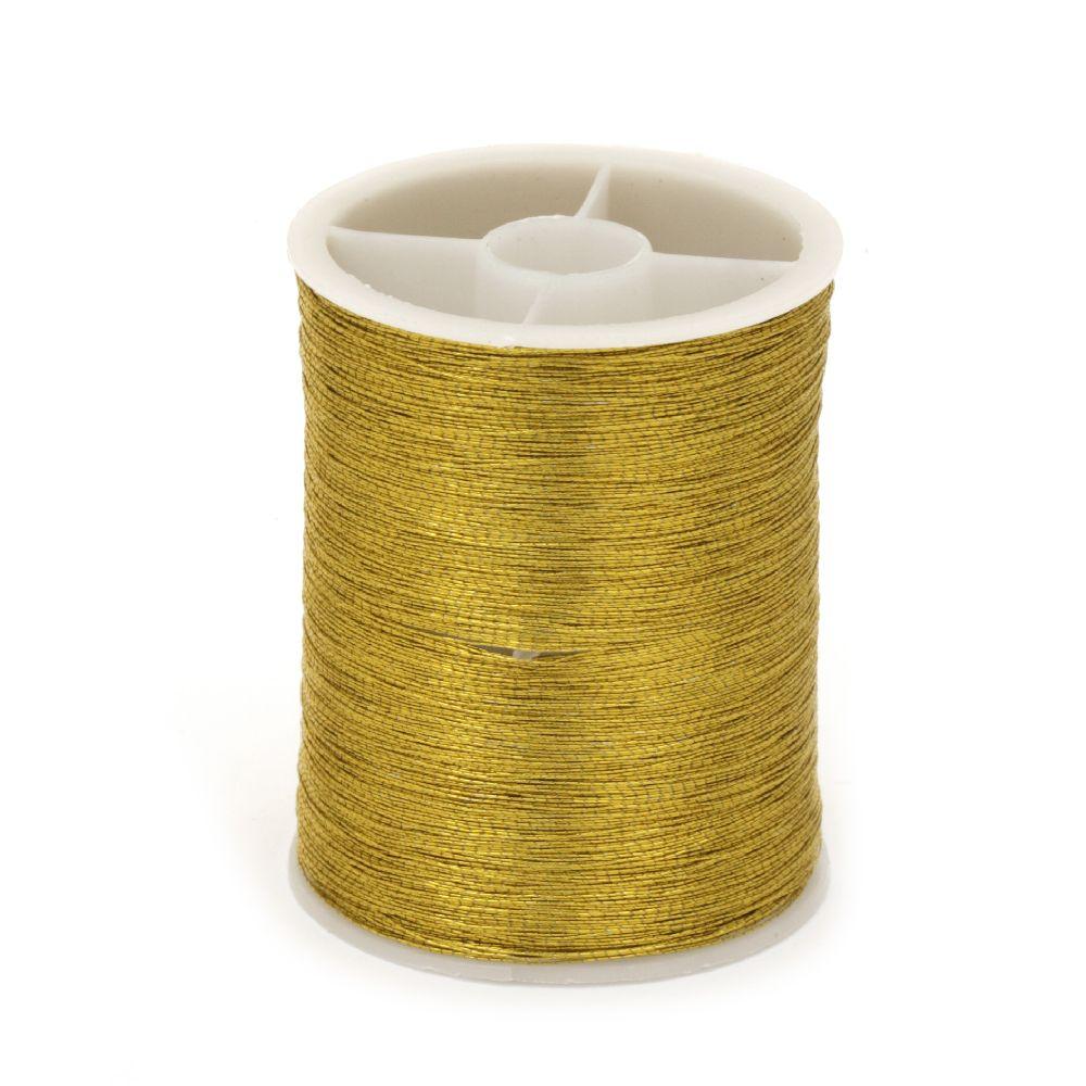 Lame tricotat 0,1 mm auriu culoare ~ 55 metri