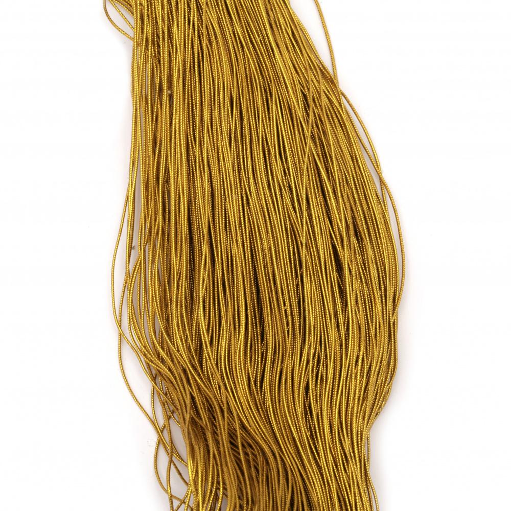 Ламе плетено 1 мм цвят злато ~450 метра