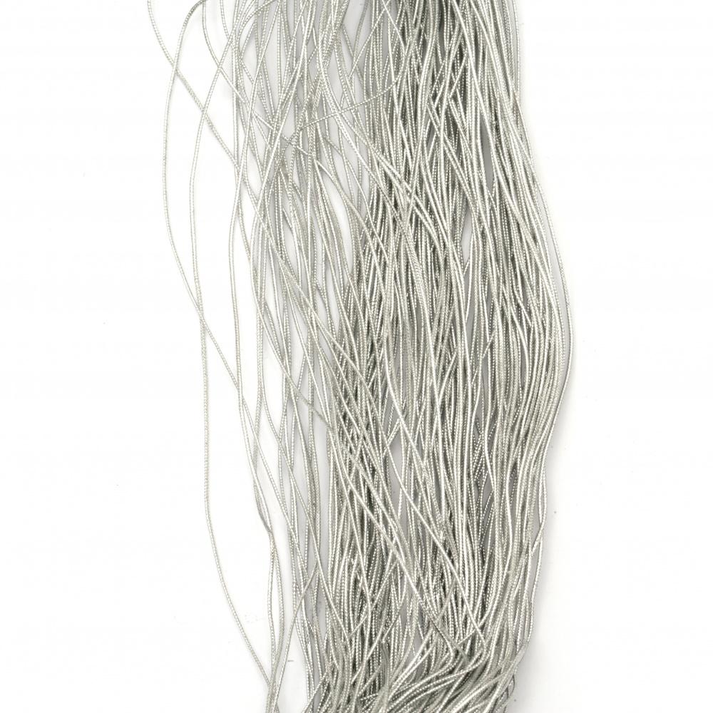 Ламе плетено 1 мм цвят сребро ~450 метра