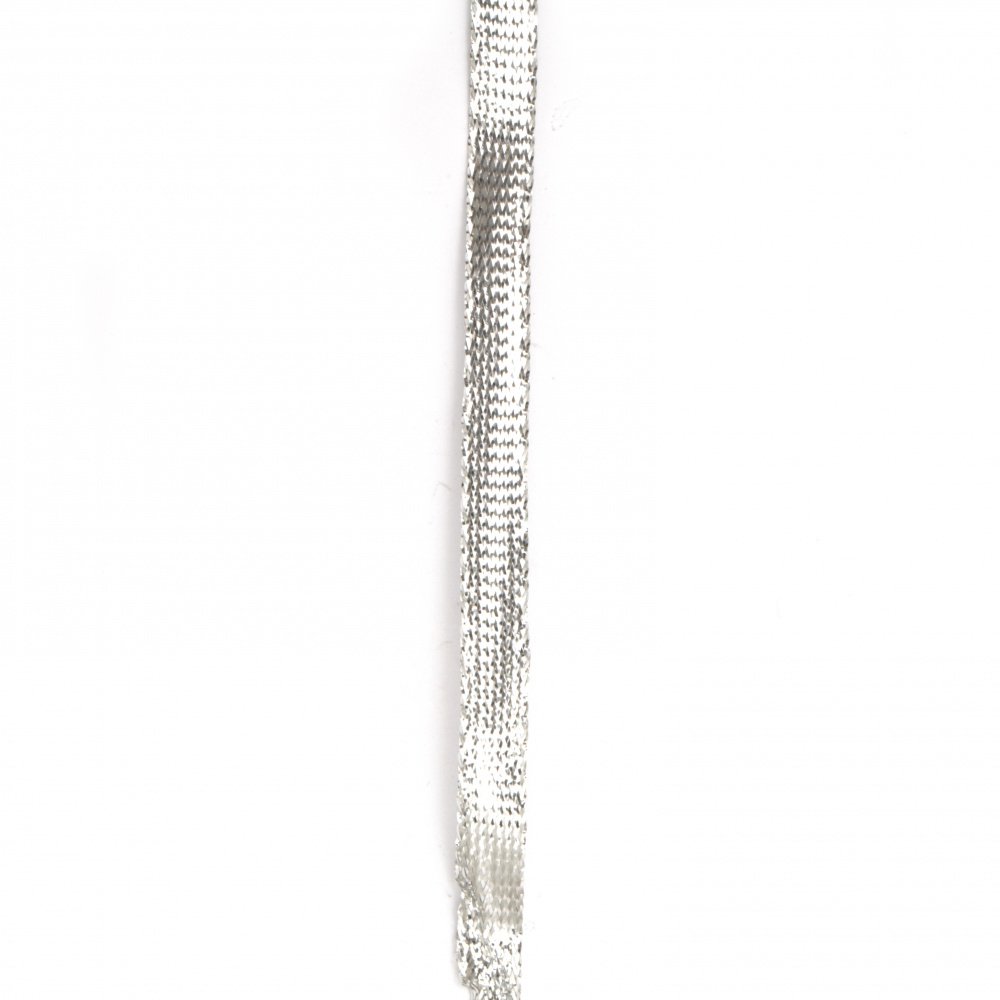 Ламе 8 мм плоско сребро -5 метра