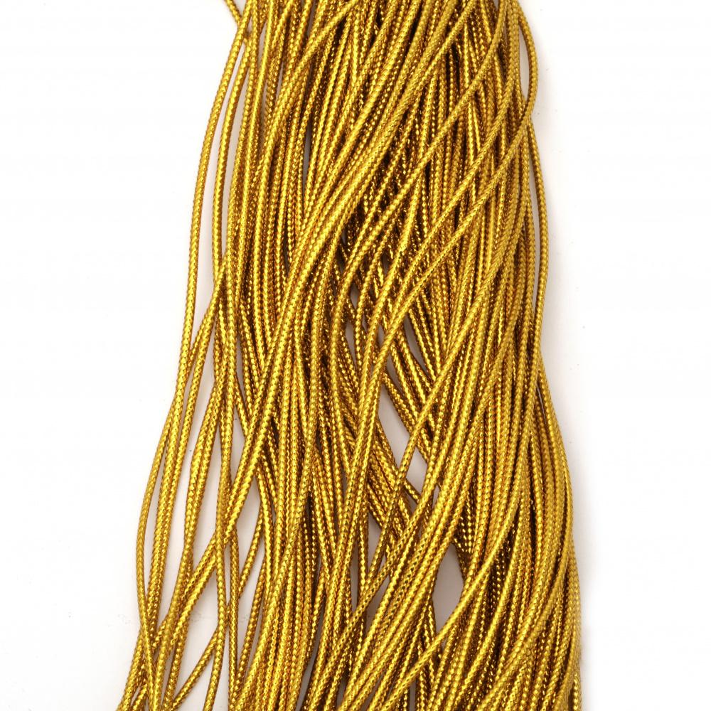 Ламе плетено 2 мм цвят злато тъмно ~100 метра