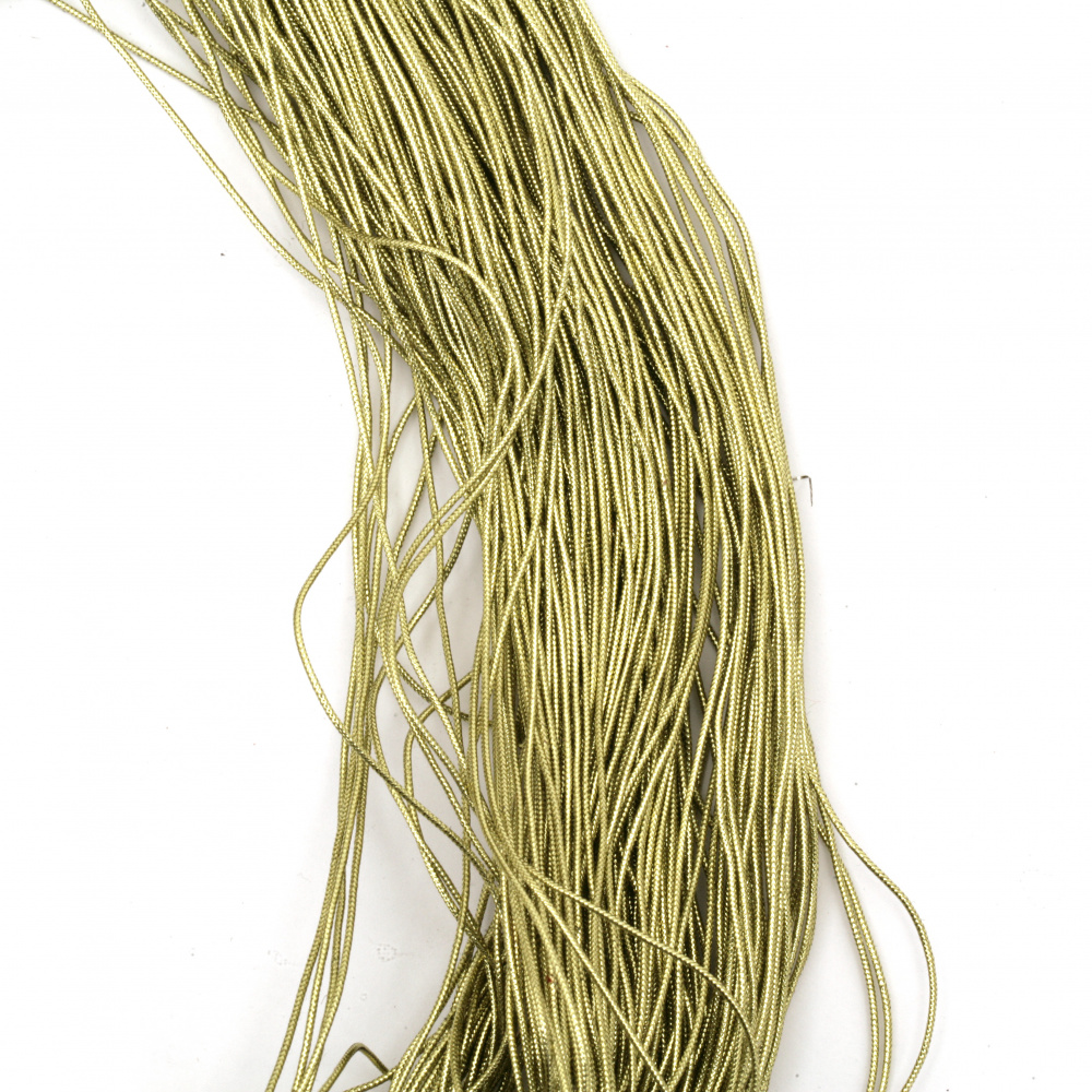 Ламе плетено 1 мм цвят злато светло ~900 метра