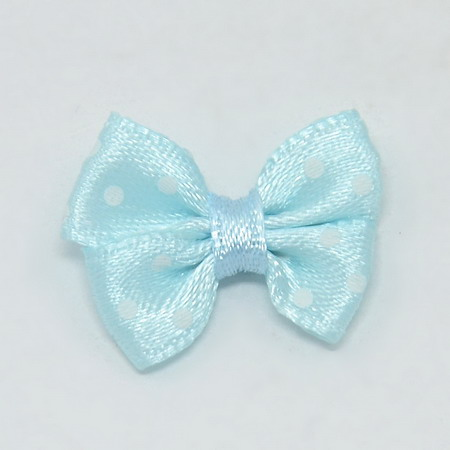 Ribbon 24x17 ~ 18 mm blue with white patterns - 5 pieces