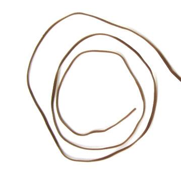 Συνθετικό σουέτ κορδόνι 3x1 mm καφέ φως -10 τεμάχια x 1 μέτρο