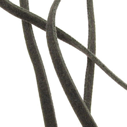 Συνθετικό σουέτ κορδόνι 3x1 mm γκρι -10 τεμάχια x 1 μέτρο