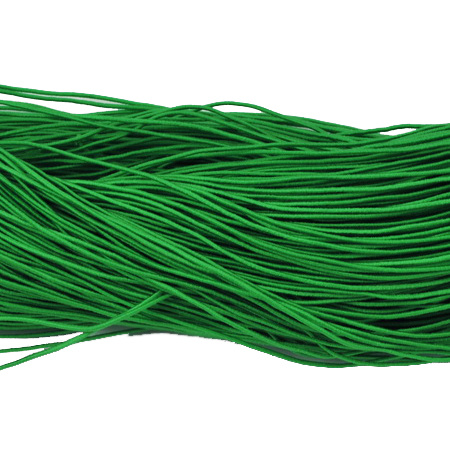Elastic Cord, with Nylon Outside and Rubber Inside 1mm green -27 meters
