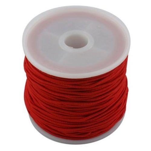 Elastic Cord 1 mm red ~ 19 meters