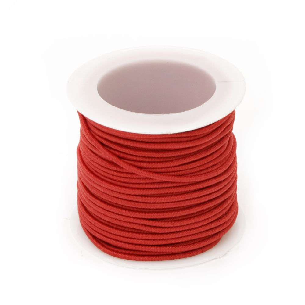 Elastic Cord 1.5 mm red -10 meters