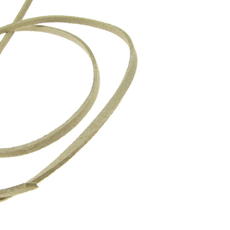 Βελούδο κορδέλα 2,5x1,5 mm εκρού -5 μέτρα