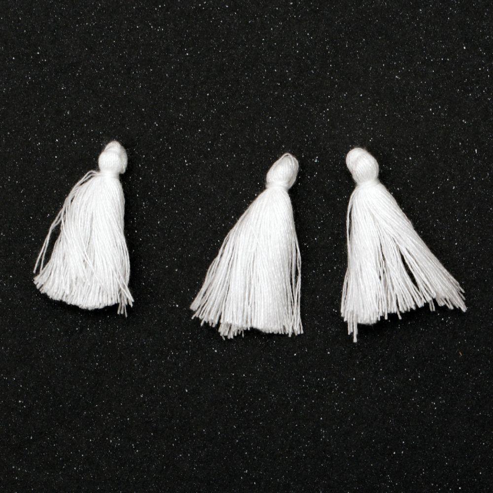 Φούντα βαμβακερή 30 mm λευκό -20 τεμάχια