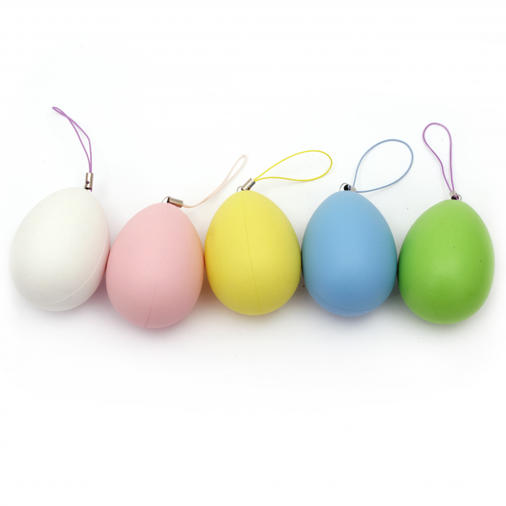 Egg ping pong 64x47 mm mix colors