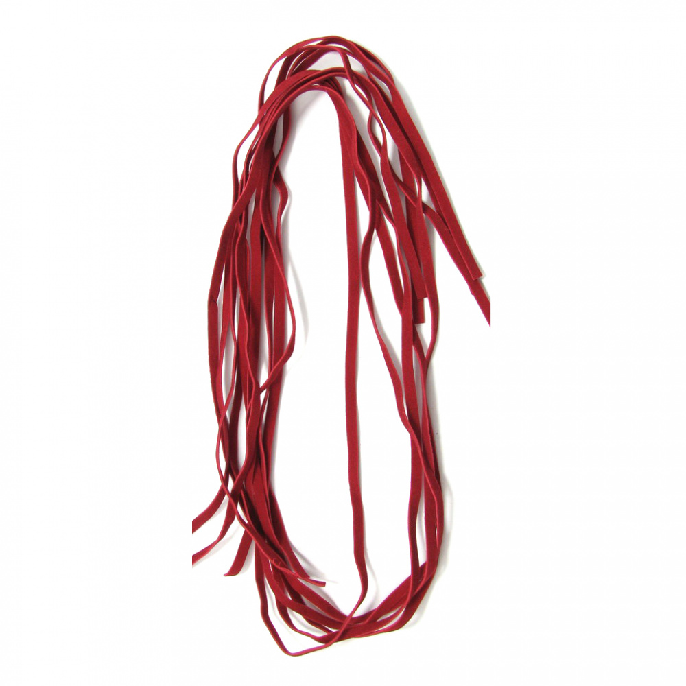 Faux Suede Jewelry Ribbon 5 mm red -10 pieces x 1 meter