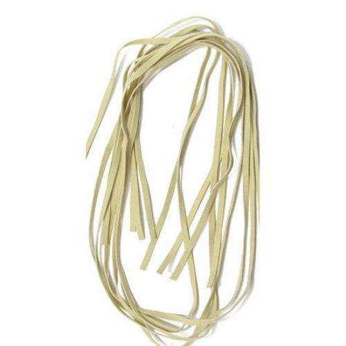 Faux Suede Jewelry Cord 5 mm Cream color -10 pieces x 1 meter