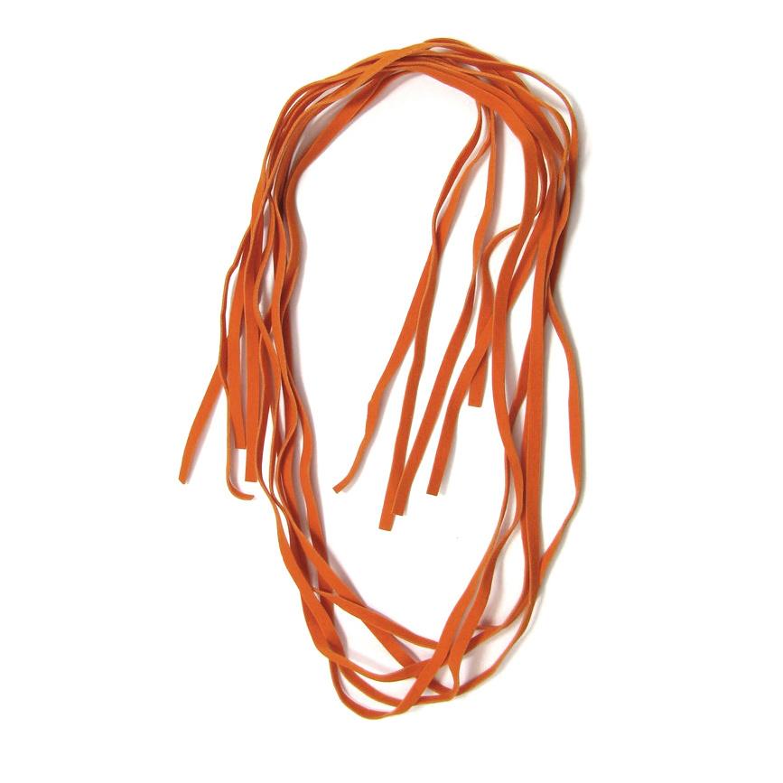 Συνθετικό σουέτ κορδόνι 5 mm πορτοκαλί -10 τεμάχια x 1 μέτρο