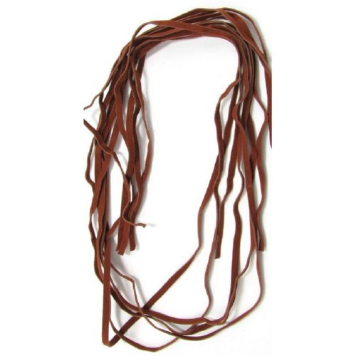 Faux Suede Jewelry Cord 5 mm brown light -10 pieces x 1 meter