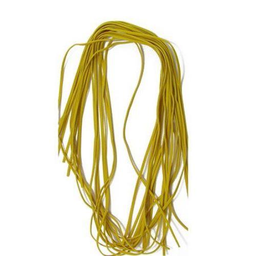 Bandă din piele de căprioară 2,5 mm galben închis -10 bucăți x 1 metru