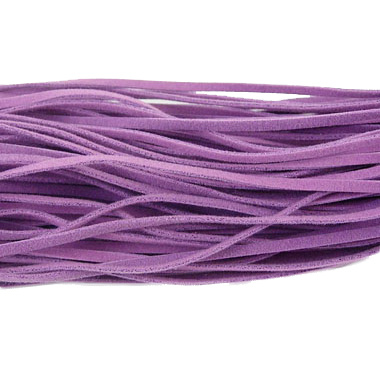 Ribbon Imitation Suede 2.5 mm purple -10 pieces x 1 meter