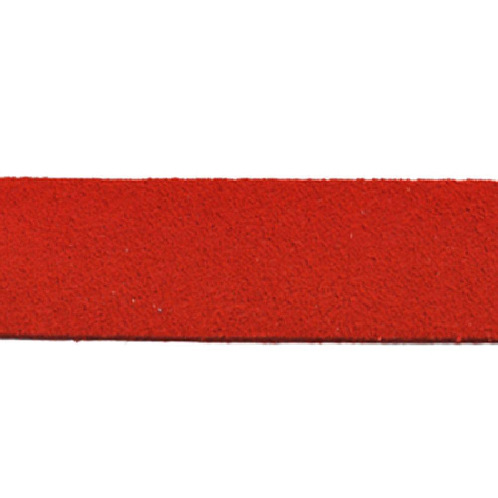 Лента еко велур 20x1.4 мм червен - 1 метър