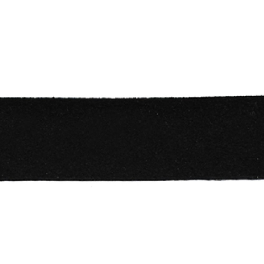 Faux Suede Jewelry Cord ribbon 20x1.4 mm black - 1 meter