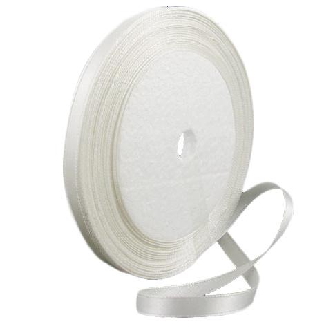 Ширит сатен 6 мм бял ~22 метра