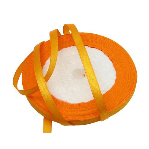 Ширит cатен 6 мм оранжев светъл ~22 метра