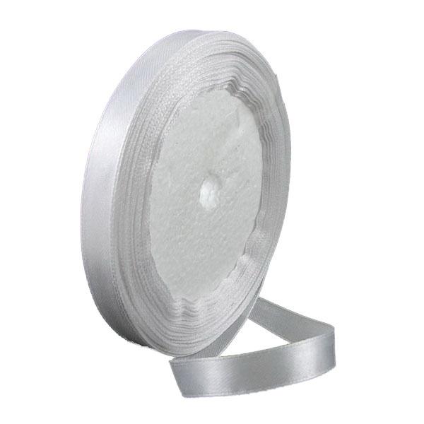 Ширит сатен 25 мм бял ~22 метра
