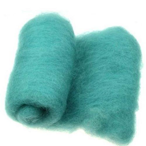ВЪЛНА 100 процента Филц за нетъкан текстил 700x600 мм екстра качество тюркоаз -50 грама