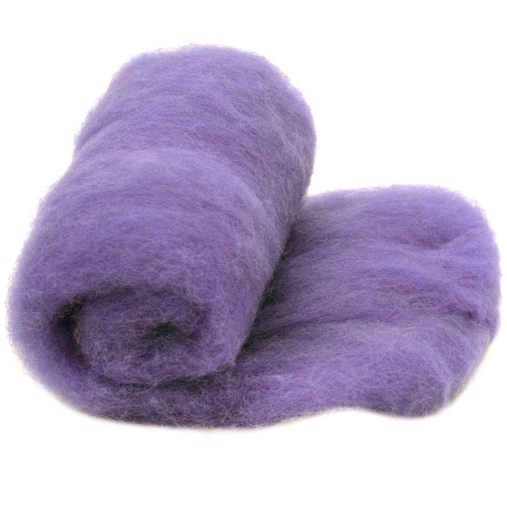 ВЪЛНА 100 процента Филц за нетъкан текстил 700x600 мм екстра качество лилава -50 грама