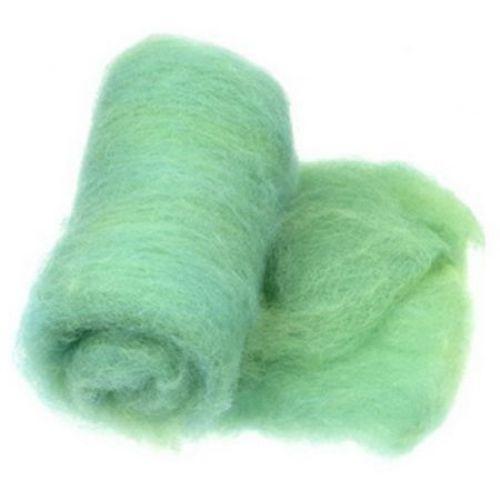 ВЪЛНА 100 процента Филц за нетъкан текстил 700x600 мм екстра качество меланж жълто,тюркоаз -50 грама