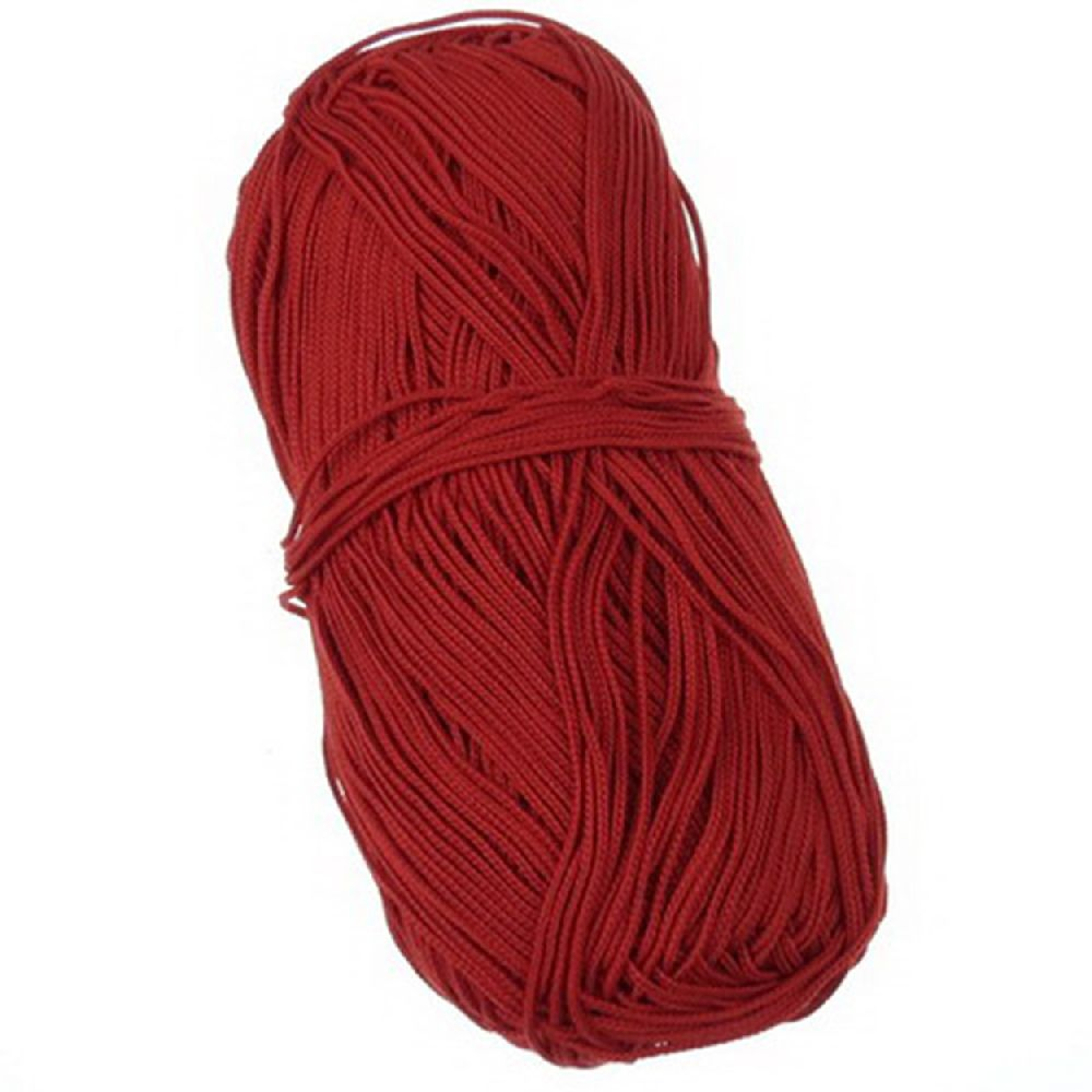 Макраме 1 мм червено -170 м -100 грама