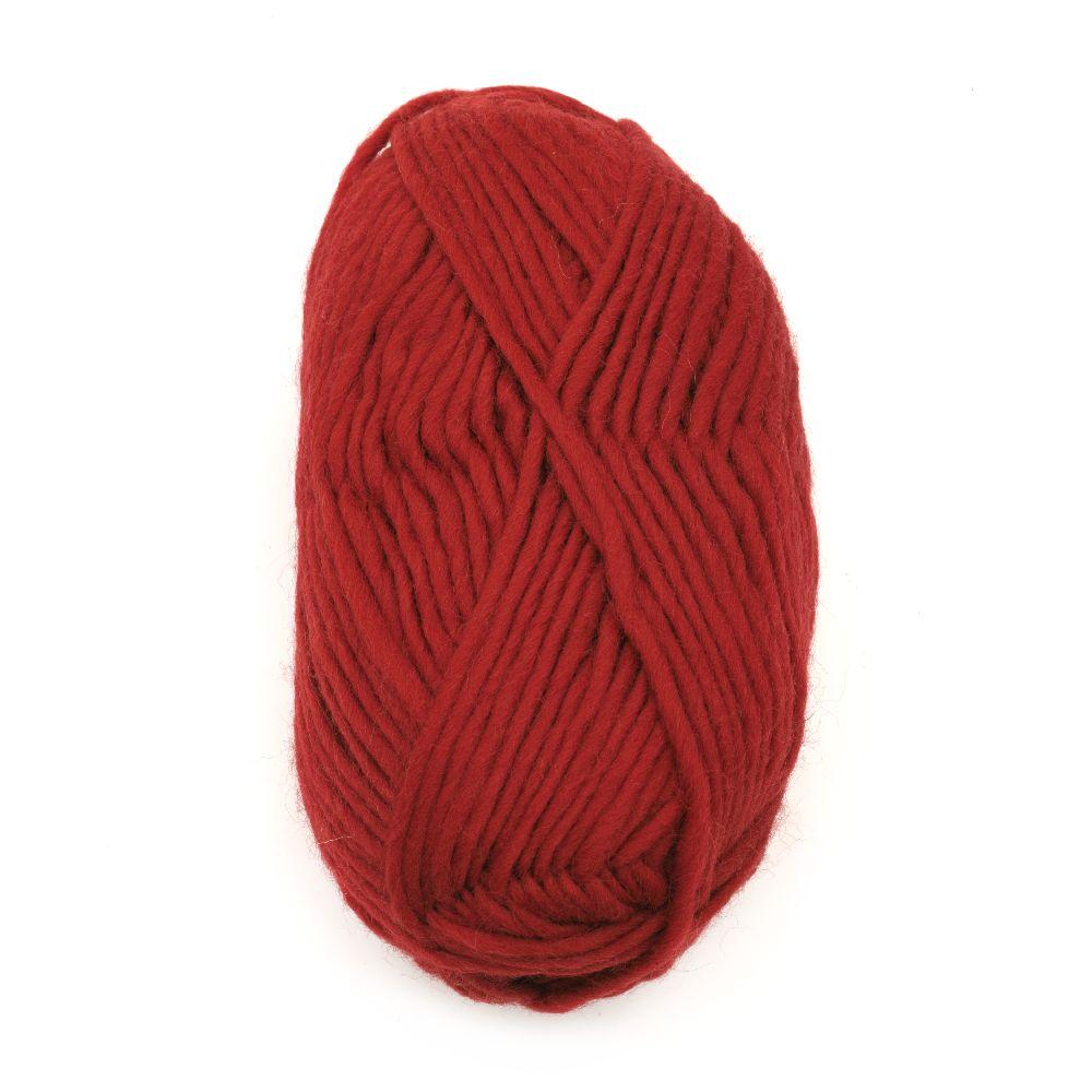 Прежда Амалиа 100 процента вълна червена -100 грама