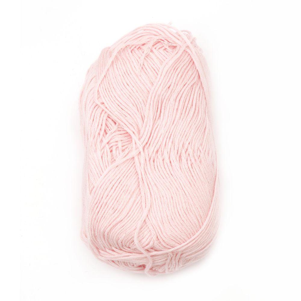 Прежда Софт бебе бамбук и коприна 1 мм розова светла -50 грама