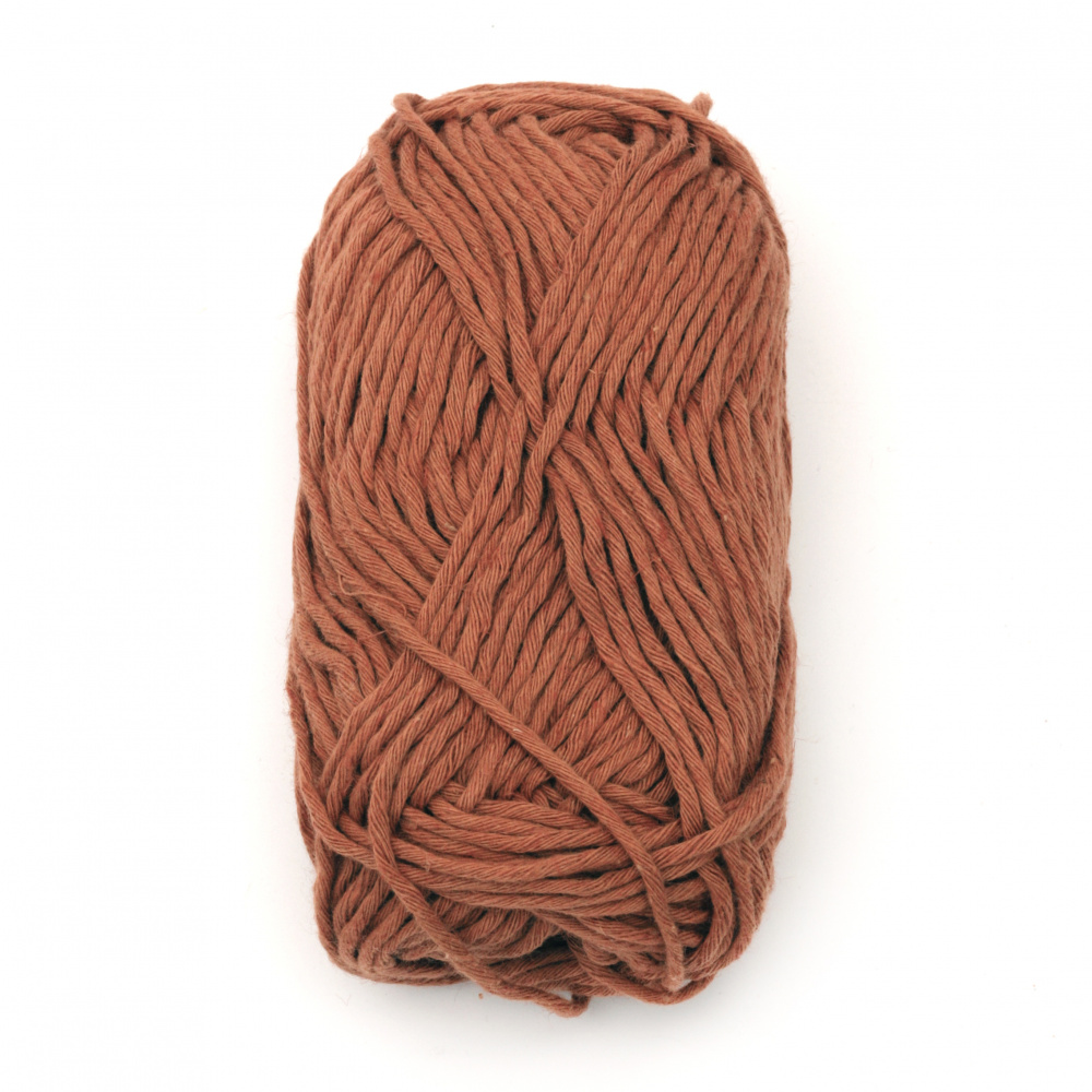 Прежда LINEN TOUCH 80 % памук 20 % лен цвят тъмно оранжев 50 грама -65 метра