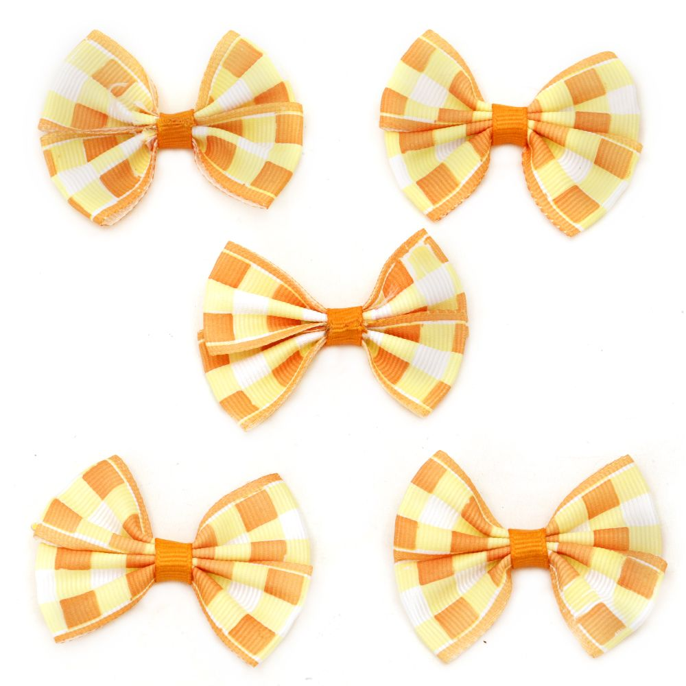 Ribbon 54x42x8 mm orange square -5 pieces