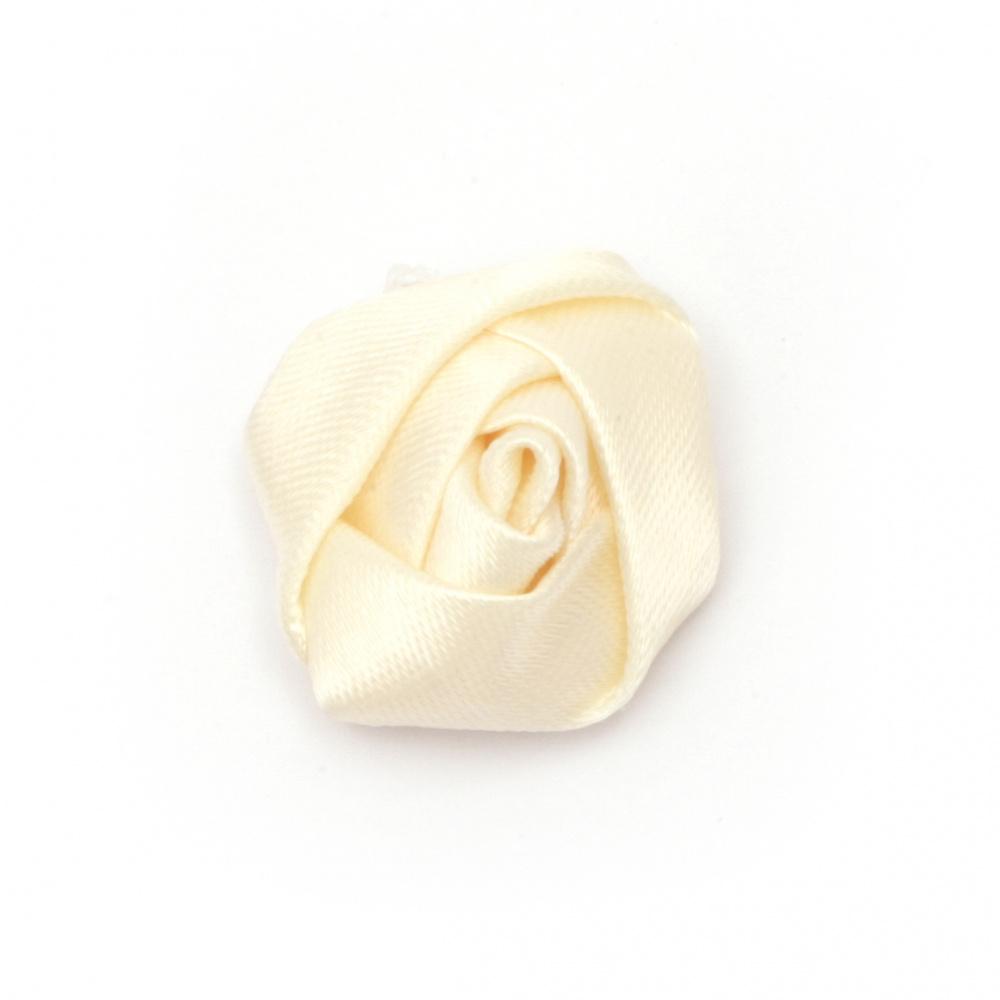 Роза 25x15 мм шампанско -10 броя