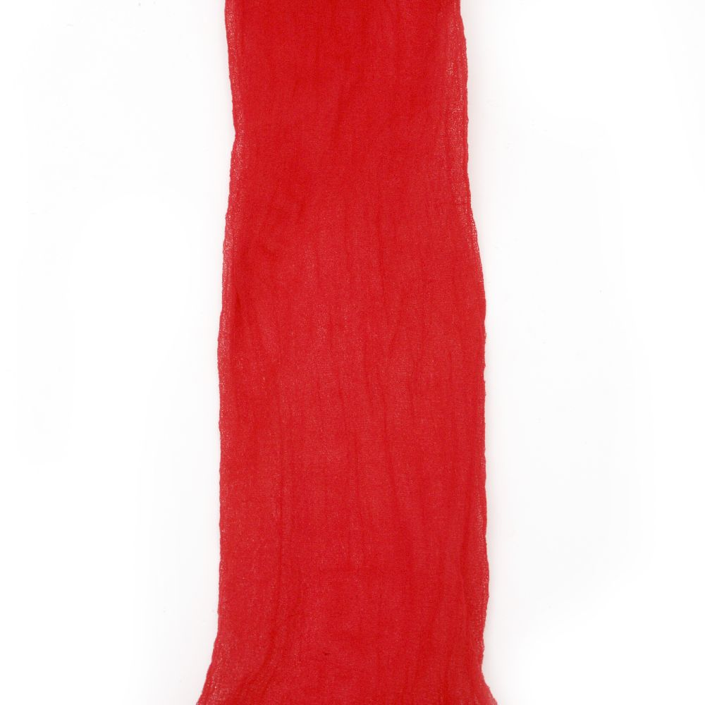 Полиестерен ръкав за найлонови цветя /тип чорапогащник/ червен тъмен -пакет 5 броя
