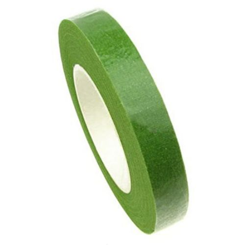 Crepe floral tape for wrapping flower stems 13 mm light green ~ 28 meters