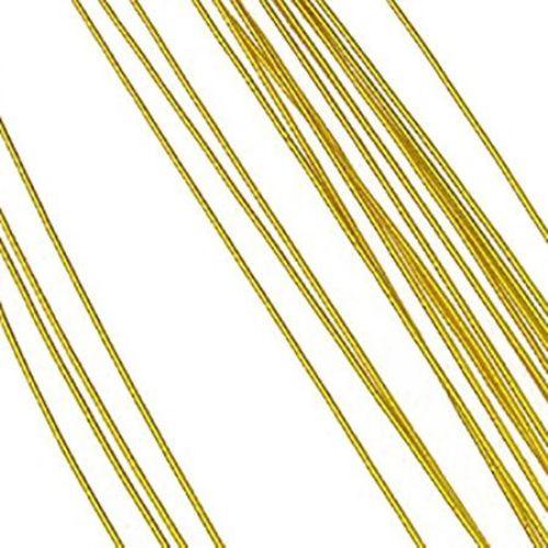Floral wire 0.9 mm ~ 82 cm gold color - 20 pieces