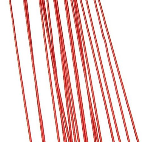 Тел цветарска 0.9 мм ~82 см червена -20 броя