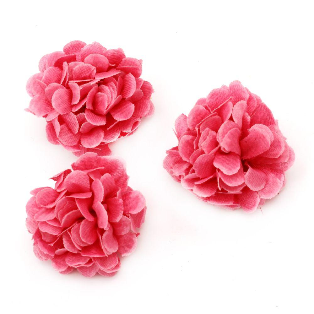 Garoafe 5 mm cu boboc pentru montare culoare  roz - 10 bucăți