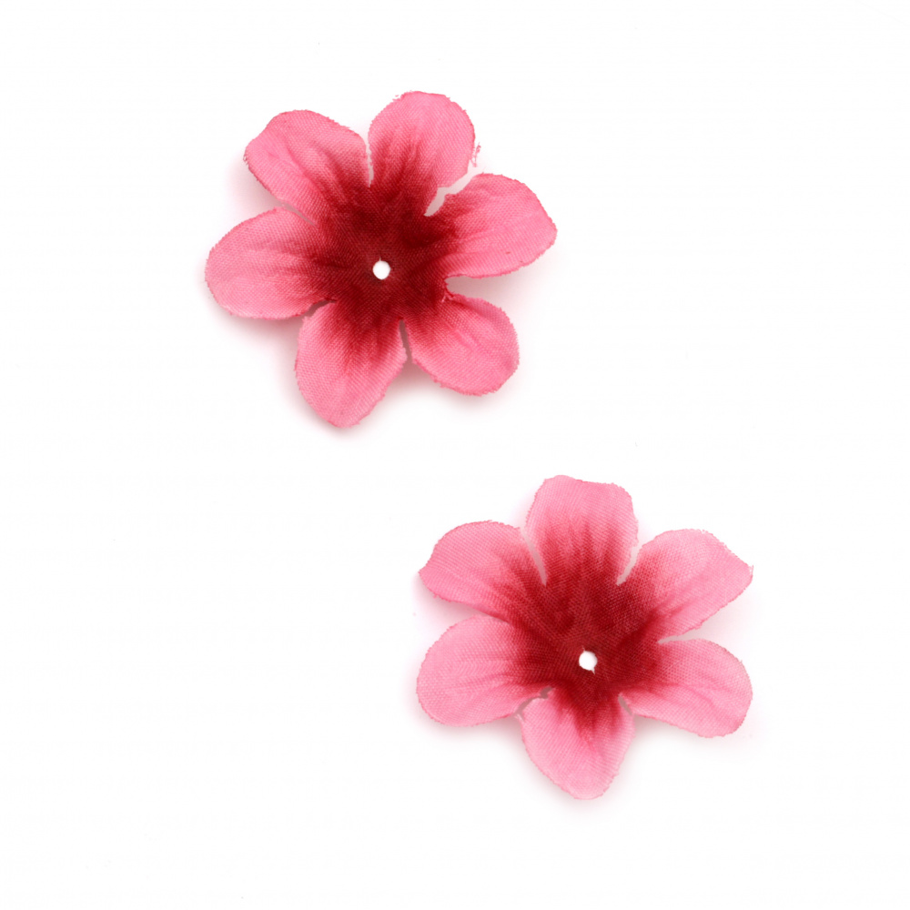 Flower Fabric 50 mm for decoration cyclamen -30 pieces