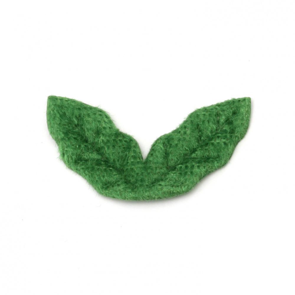 Textile sheet 30x15 mm color green -20 pieces