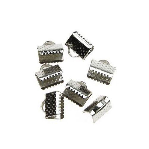 Duza metal 8 mm pinch culoare argintiu -50 bucăți