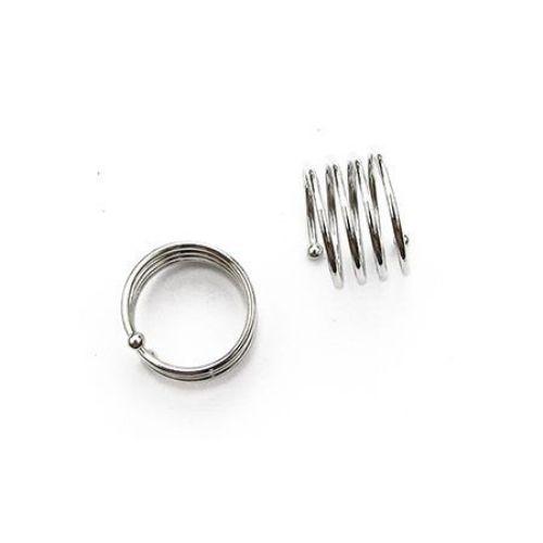 Метална основа за пръстен 20 мм спирала цвят сребро NF -1 брой