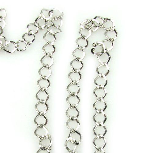 Lanț 1,3x7,3x8,7 mm argint -1 metru