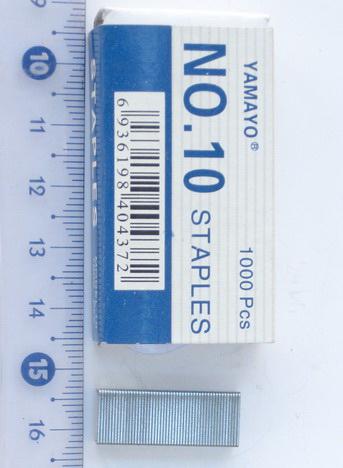 Capse pentru aparat capse numărul 10 -10 unghi de 1000 buc