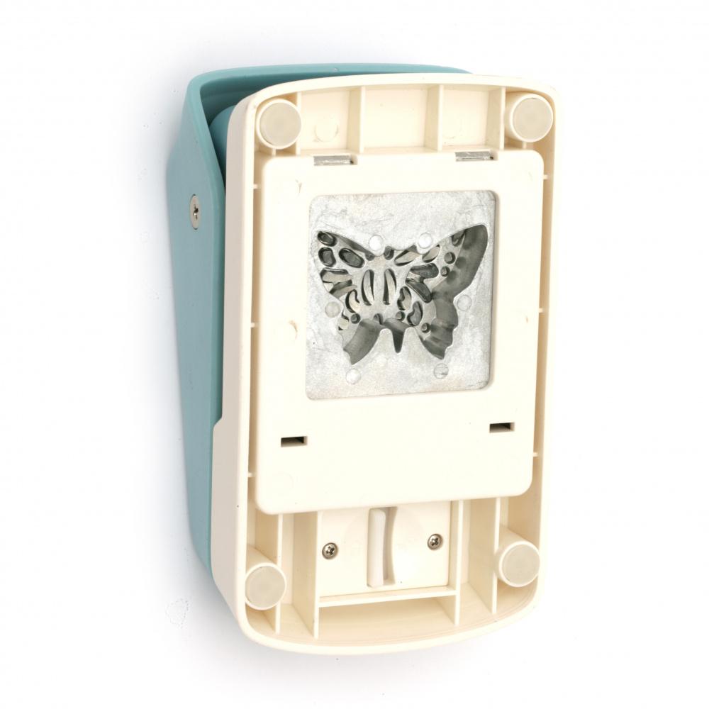 Перфоратор /пънч/ Kamei детайлен 50x50 мм за картон от 180 гр/м2 до 250 гр/м2 пеперуда